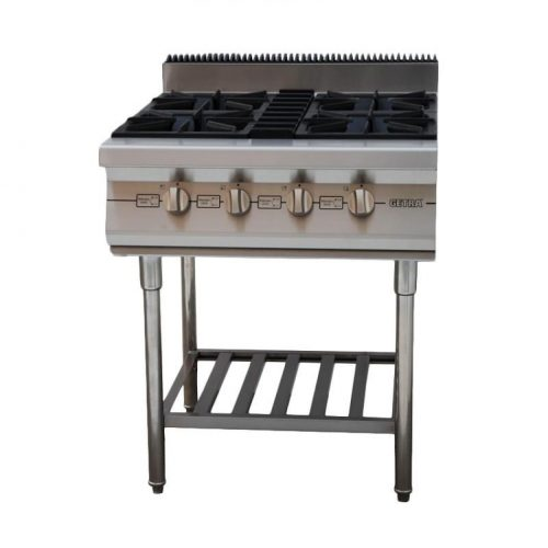 gas open burner w/stand RBD 4